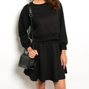 Other - NWT Black TOP AND SKIRT SET!!!
